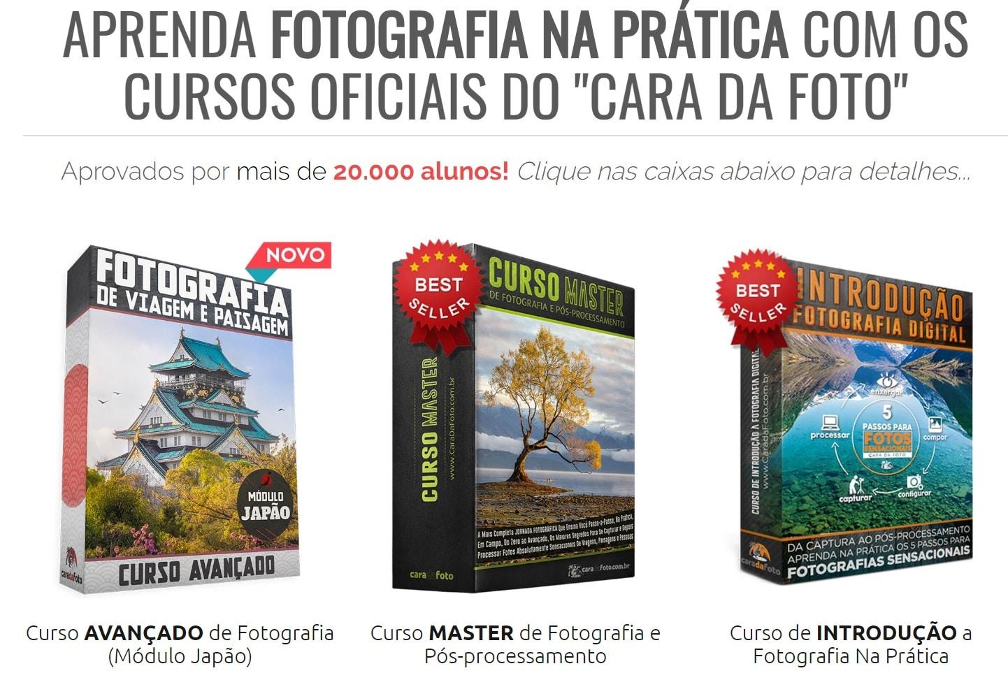 Curso de Fotografia Online - Cara Da Foto